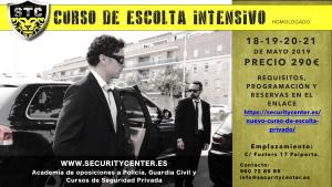 cartel escolta intensivo mayo 2019
