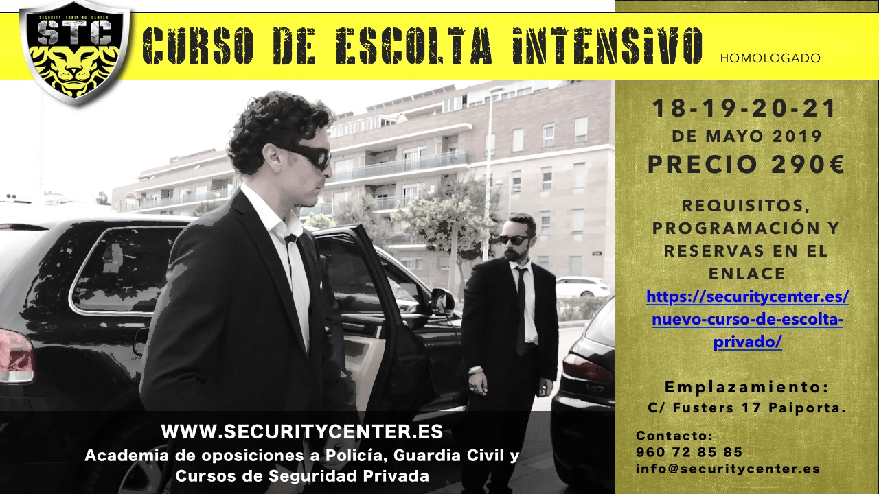 cartel escolta intensivo mayo 2019